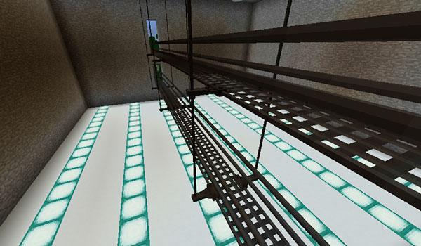 Imagen donde podemos ver el aspecto que tienen las pasarelas metálicas que nos ofrece el mod Catwalks 1.12.2.