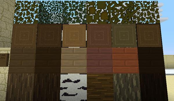 Imagen donde vemos qué aspecto tendrán los bloques de construcción habituales con el pack de texturas Argon 1.13 y 1.12.