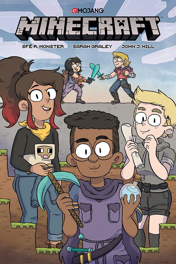 Imagen donde podemos la portada del cómic Minecraft Volume One, desarrollado por Dark Horse Comics y Mojang.
