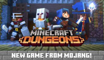 Minecraft Dungeons, juego de mazmorras basado en Minecraft