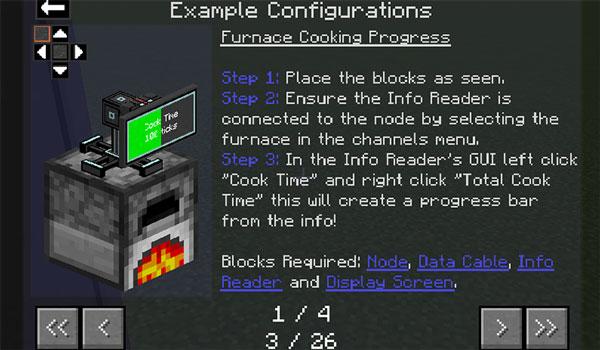 Imagen donde podemos ver la guía de creación y utilización de los diversos elementos que añade al juego el mod Practical Logistics 1.12, 1.12.1 y 1.12.2.