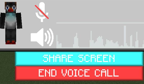 Imagen donde podemos ver la interfaz gráfica que nos permite comunicarnos, mediante voz, dentro de Minecraft, gracias al mod Chat Overhaul 1.12.2.