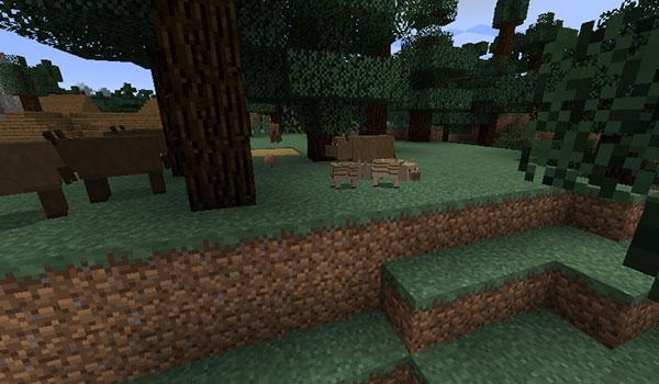 Imagen donde podemos ver los jabalís que añade el mod Fauna and Ecology 1.12.2.