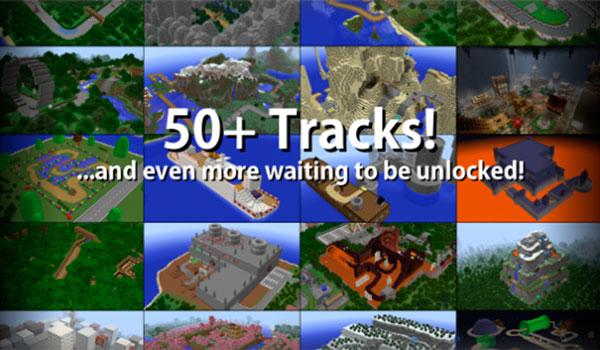 Imagen donde podemos ver una imagen compuesta donde aparecen algunos de los circuitos que encontraremos en el mapa Mario Kart in Minecraft 1.13 y 1.12.