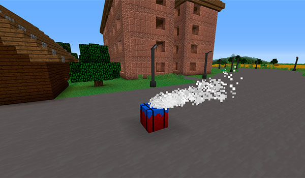 Imagen donde podemos ver uno de los famosos airdrops de PUBG. Ahora en Minecraft, gracias al mod PUBGMC 1.12.2.
