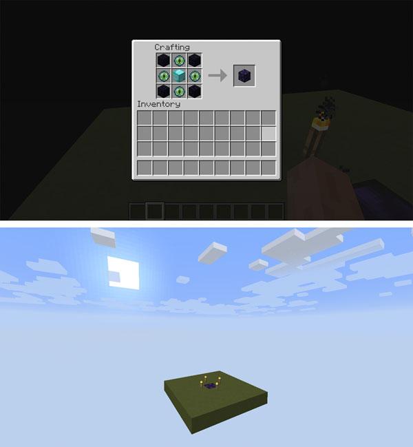 Imagen donde podemos ver la plataforma que genera el mod Simple Void World 1.12, 1.12.1 y 1.12.2.