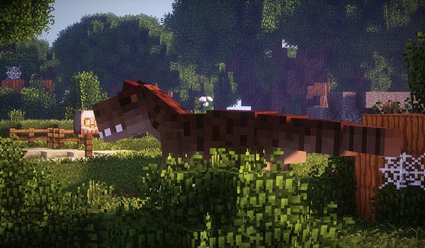 Imagen donde podemos ver un dinosaurio del mod Fossils and Archeology 1.12.2.