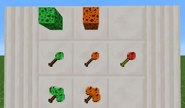 Imagen donde podemos ver las diversas variantes de esponjas que podremos crear y utilizar con el mod Simple Sponge Mod 1.13.2.