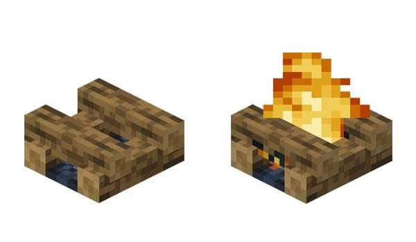 Hoguera Minecraft