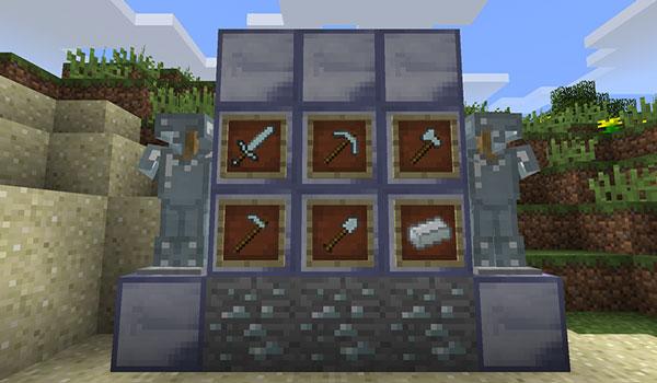 Imagen donde podemos ver algunos de los nuevos bloques y objetos que podremos crear tras instalar el mod Simply Platinum 1.13.2.