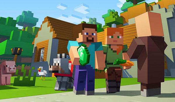 Edad media jugador de Minecraft