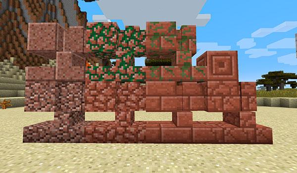 Imagen donde podemos ver las nuevas variantes de bloques de construcción y decoración que podremos crear con el mod Stairway to Aether 1.14.4.