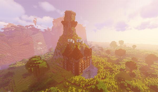 Imagen donde podemos ver un tipo de mundo generado a partir de la nueva generación de terreno que añade el mod Wild Nature 1.14.4.