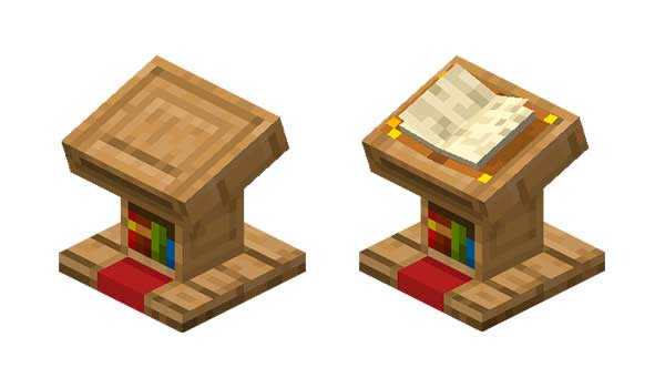Atril Minecraft