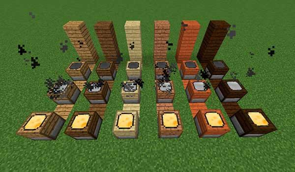 Imagen donde podemos ver cómo es el proceso de elaboración de las diversas variedades de queso que añade el mod Cheese 1.12, 1.12.1 y 1.12.2.