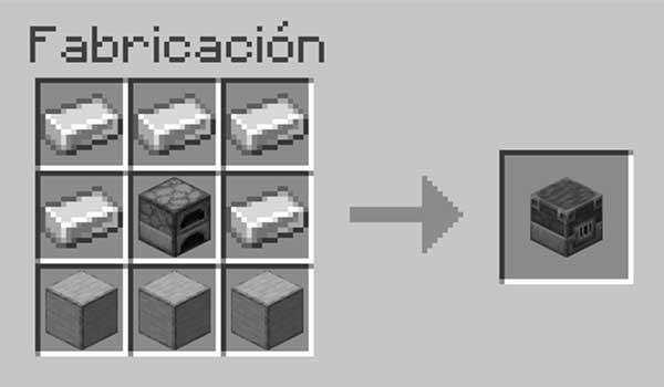 Receta para hacer un alto horno en Minecraft.