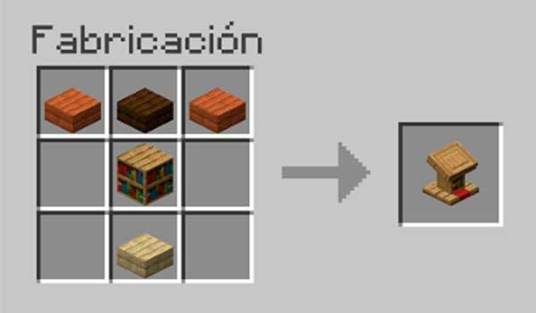 Receta para hacer un atril en Minecraft
