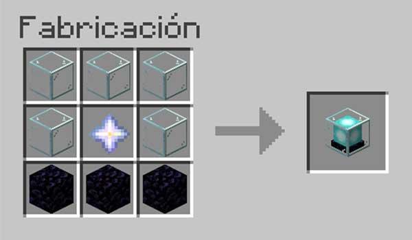Receta para hacer un beacon en Minecraft