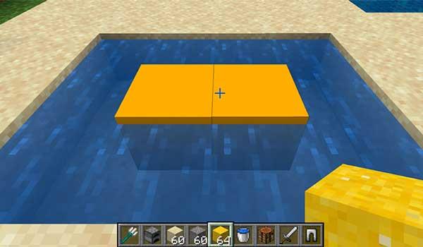 Proceso para hacer hormigón en Minecraft.