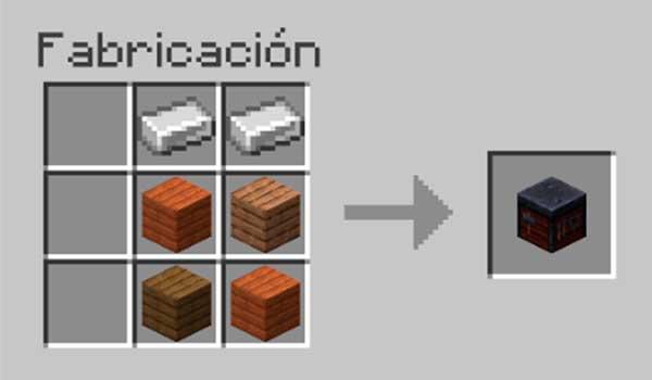Receta para hacer una mesa de herrería en Minecraft