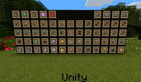 Imagen donde podemos ver el aspecto que tendrán varios objetos del juego al utilizar las texturas Unity 1.14, 1.13 y 1.12