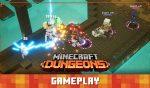 Gameplay jugabilidad de Minecraft Dungeons