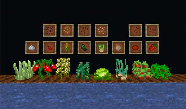 Imagen donde podemos ver una muestra de algunos de los nuevos alimentos que podremos consumir con el mod XL Food 1.15.1 y 1.15.2.
