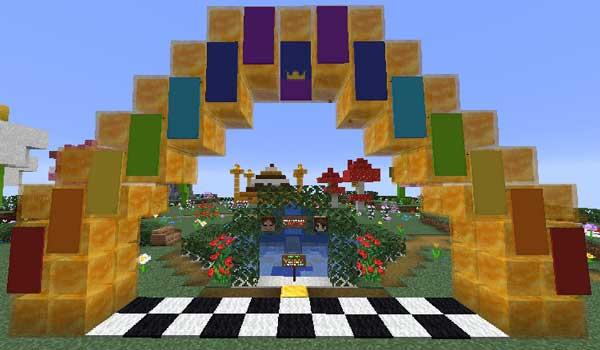 Imagen donde podemos ver una de las zonas que encontraremos en el mapa Honey Jump 1.16 y 1.15.