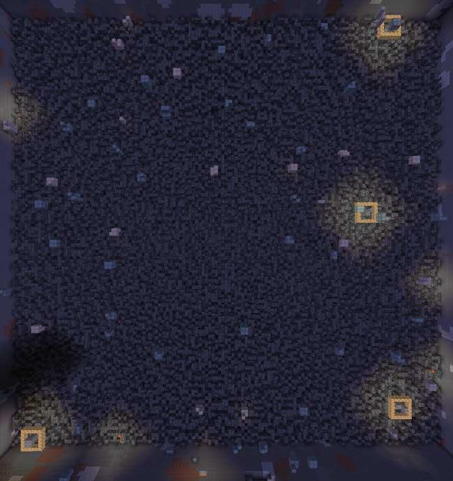 Imagen donde podemos ver la baja tasa de generación que tienen los nuevos recursos minerales que añade el mod Ores Above Diamonds 1.15.1 y 1.15.2.