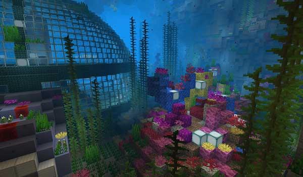 Imagen donde podemos ver una las zonas subacuáticas que encontraremos en el mapa The Twist Labs 1.15 y 1.14.