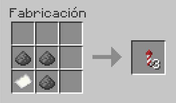 Receta para hacer cohetes en Minecraft
