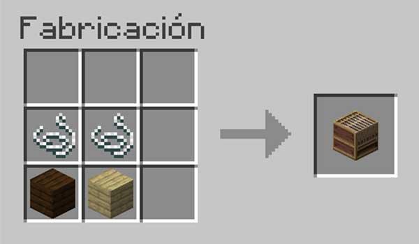 Receta para hacer un telar en Minecraft.