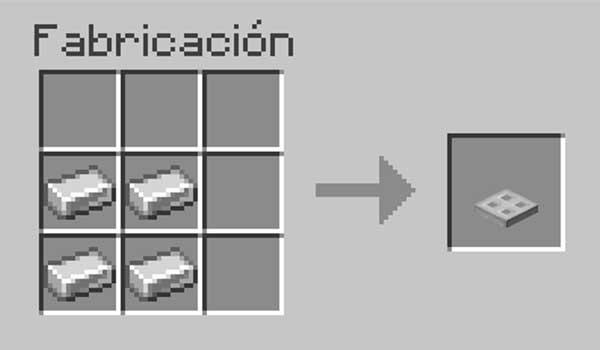 Receta para hacer una trampilla de hierro en Minecraft