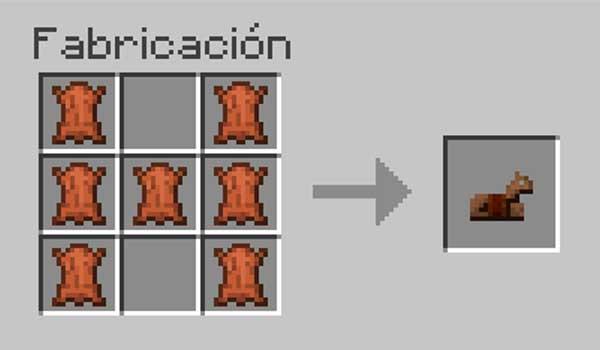 Receta de la armadura de cuero para caballos