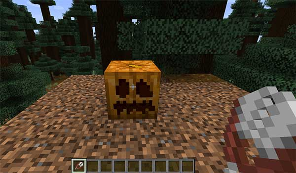 Hacer una calabaza tallada en Minecraft