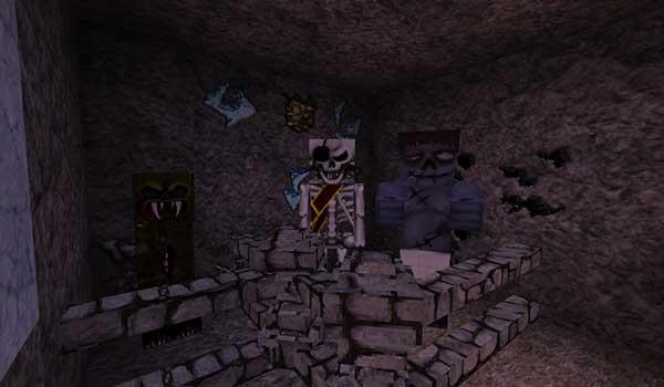 Imagen donde nos podemos hacer una idea del aspecto que tendrán las criaturas hostiles de Minecraft, tras instalar MeineKraft Fanmade Texture Pack 1.16, 1.15 y 1.14.