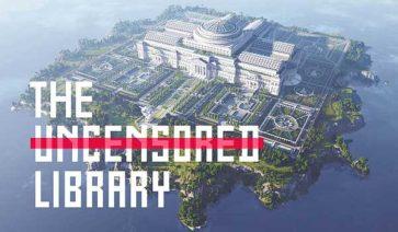 Biblioteca en Minecraft de Reporteros Sin Fronteras