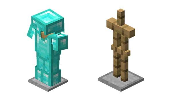 Soporte armaduras Minecraft