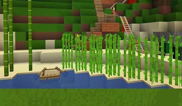 Imagen donde podemos ver como que decorado un lago con las texturas exture pack.