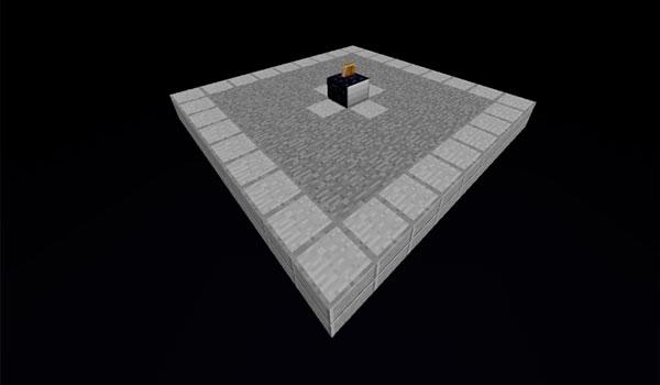 Imagen donde podemos ver la dimensión Void, que es una de las tres dimensiones que agrega el mod Utility Worlds 1.15.2.