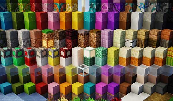 Imagen donde podemos ver una muestra del aspecto que tendrán los bloques de construcción después de instalar 8-bitCraft 1.17, 1.16 y 1.15.