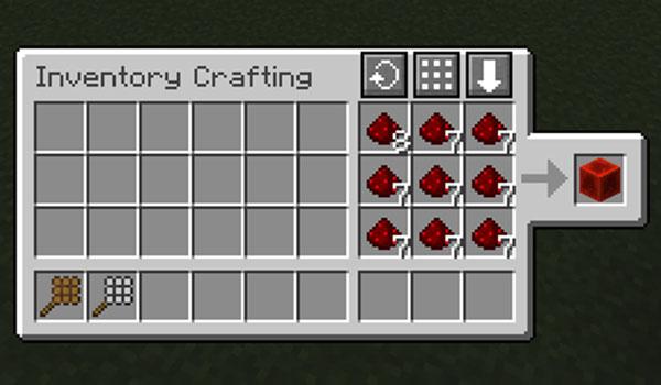 Imagen donde podemos ver la combinación de mesa de crafteo e inventario que nos ofrece el mod Crafting Craft 1.15.2.