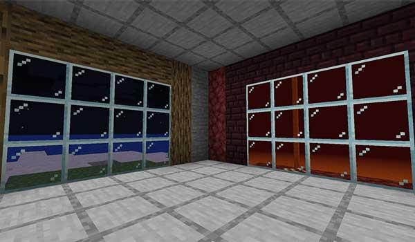 Imagen donde podemos ver una construcción dentro de una de las dimensiones privadas que nos ofrece el mod Doors of Infinity 1.15.2.