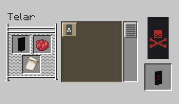 Imagen donde podemos ver cómo se usa el telar para crear nuevos diseños de estandarte en Minecraft.