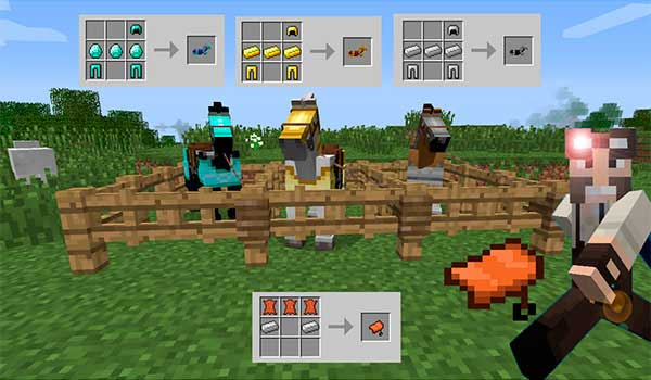 Craftable Horse Armour & Saddle 1.16.1, 1.16.2, 1.16.3 y 1.16.4