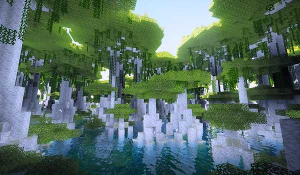 Imagen donde podemos ver uno de los nuevos biomas que generará el mod Oh The Biomes You'll Go 1.16.1, 1.16.2 y 1.16.3.