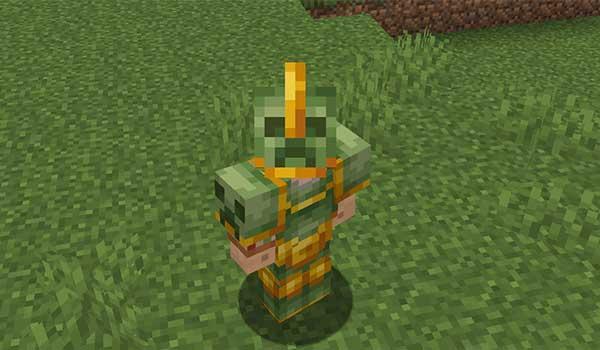 Imagen donde podemos ver un jugador mostrando la armadura Griefer, añadida al juego por el mod Savage & Ravage 1.16.1, 1.16.3, 1.16.4 y 1.16.5.