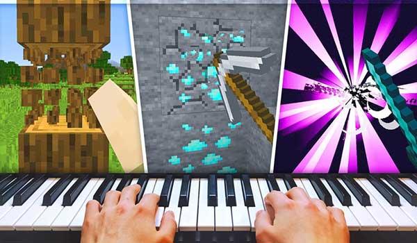 Jugar a Minecraft con un piano