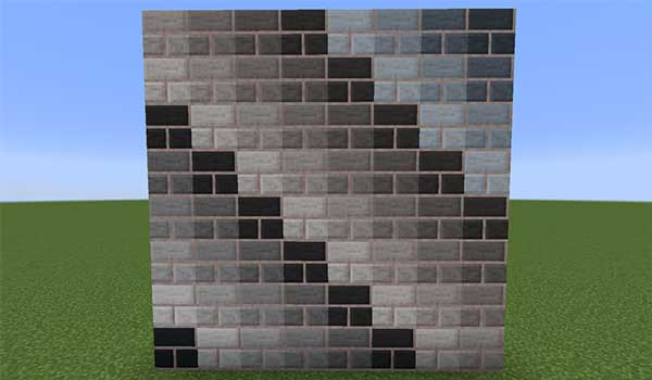 Imagen donde podemos ver un ejemplo de los nuevos patrones de diseño que ofrece el mod WallpaperCraft 1.16.1.