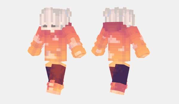 Orange Clouds Skin